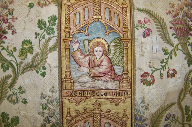 Another detail of a vestment, showing an angel