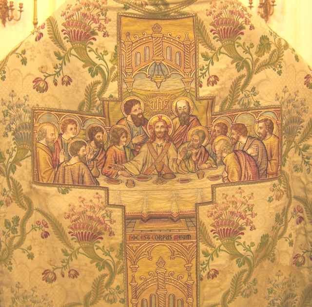 Beautiful embroidery showing the Last Supper.
