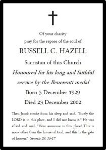 HAZELL Russell