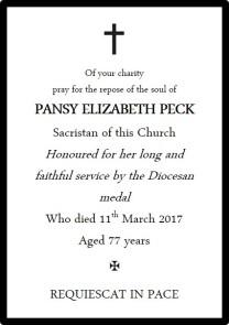 PECK Pansy