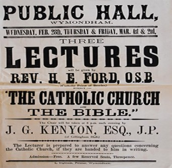 Fr Ford Lecture Poster